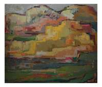 1950s-60s Modern Abstract Landscape