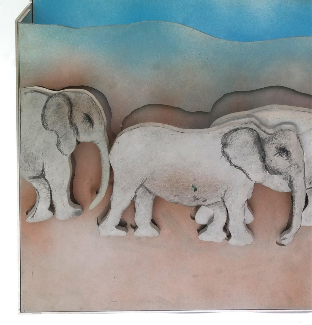 Larry Rivers, Herd of Elephants - 2
