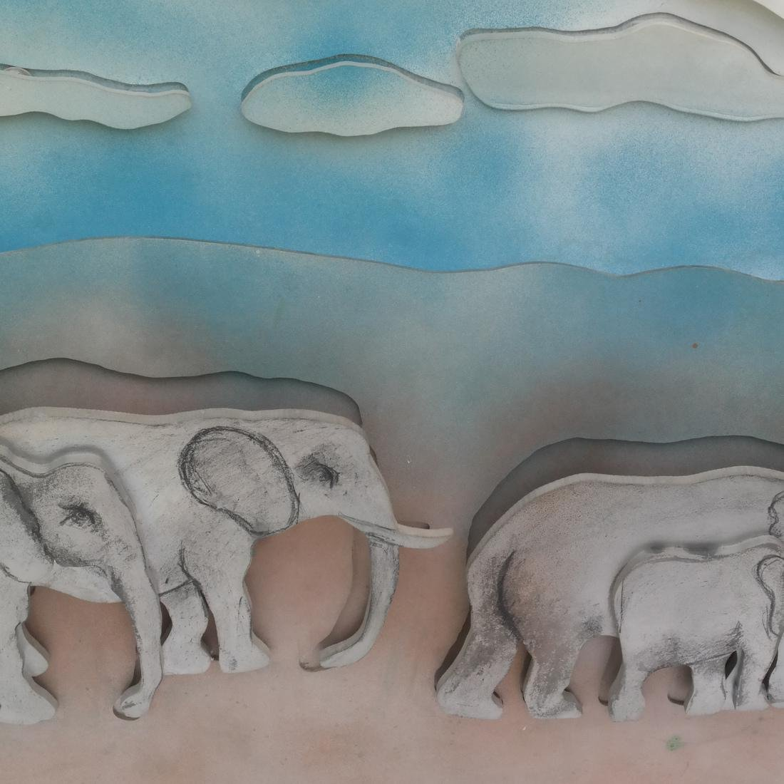 Larry Rivers, Herd of Elephants - 3