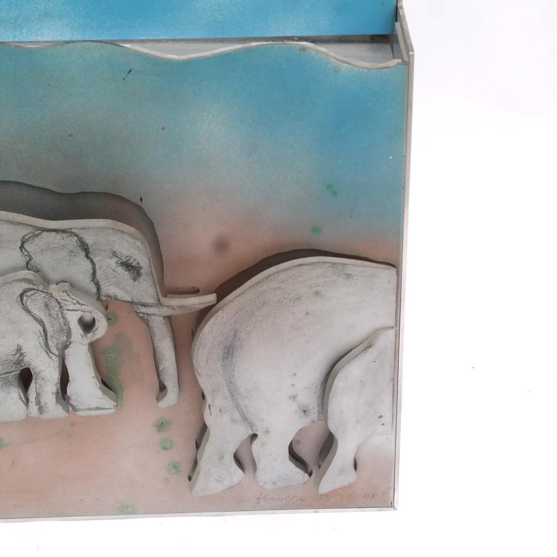 Larry Rivers, Herd of Elephants - 5