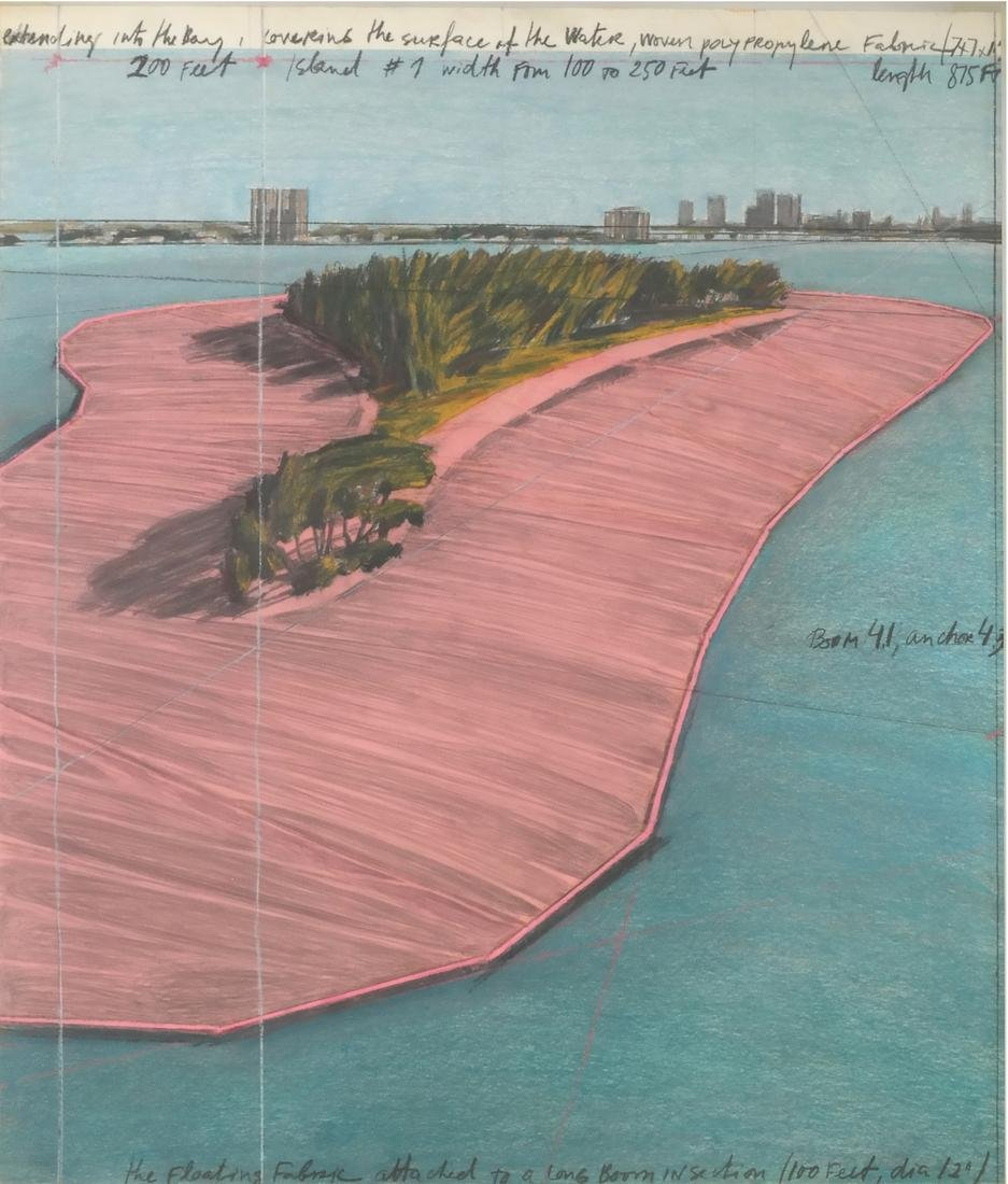 Christo, Floating Island (Two Images) - 2