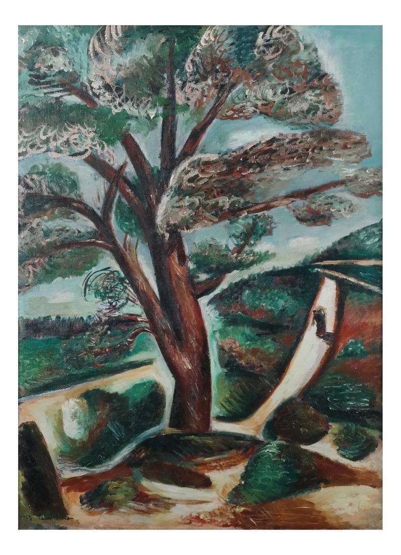 Paul Burlin, Untitled (Tree & Landscape)