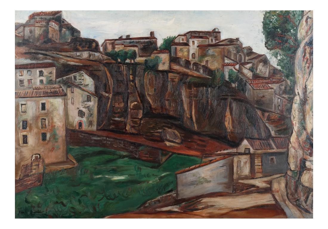Paul Burlin, Untitled (Village on the Sea) - 2