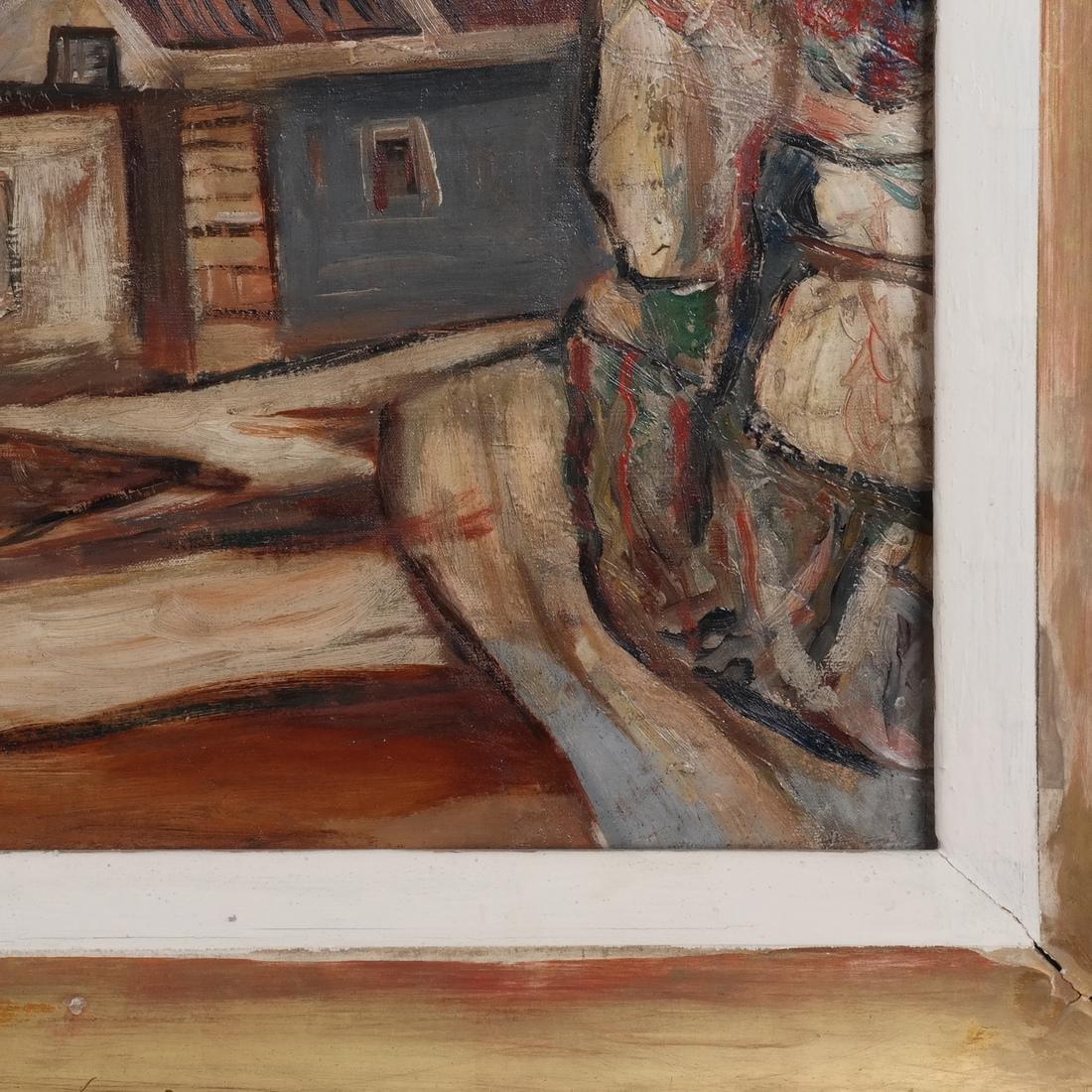 Paul Burlin, Untitled (Village on the Sea) - 5