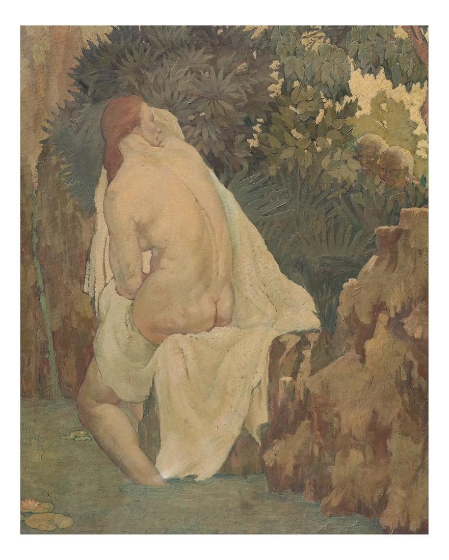 John Steuart Curry, Nude (Suzanna and the Elders)