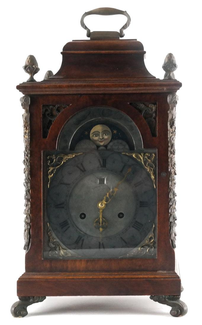 Continental Wood Mantle Clock - 2