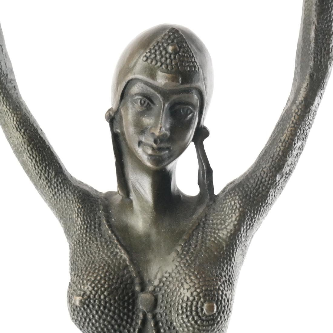 After Chiparus Deco Style Sculpture - 2