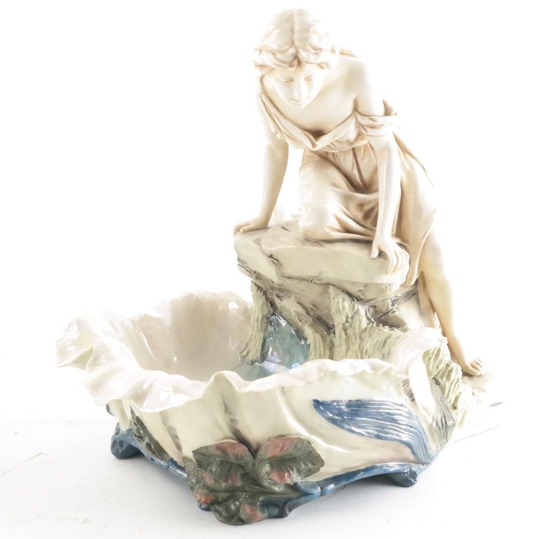 Two Royal Dux Ceramic Sculptures - 5