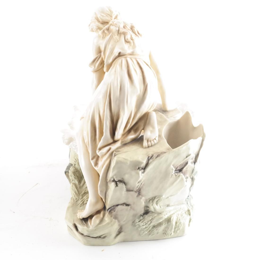 Two Royal Dux Ceramic Sculptures - 6