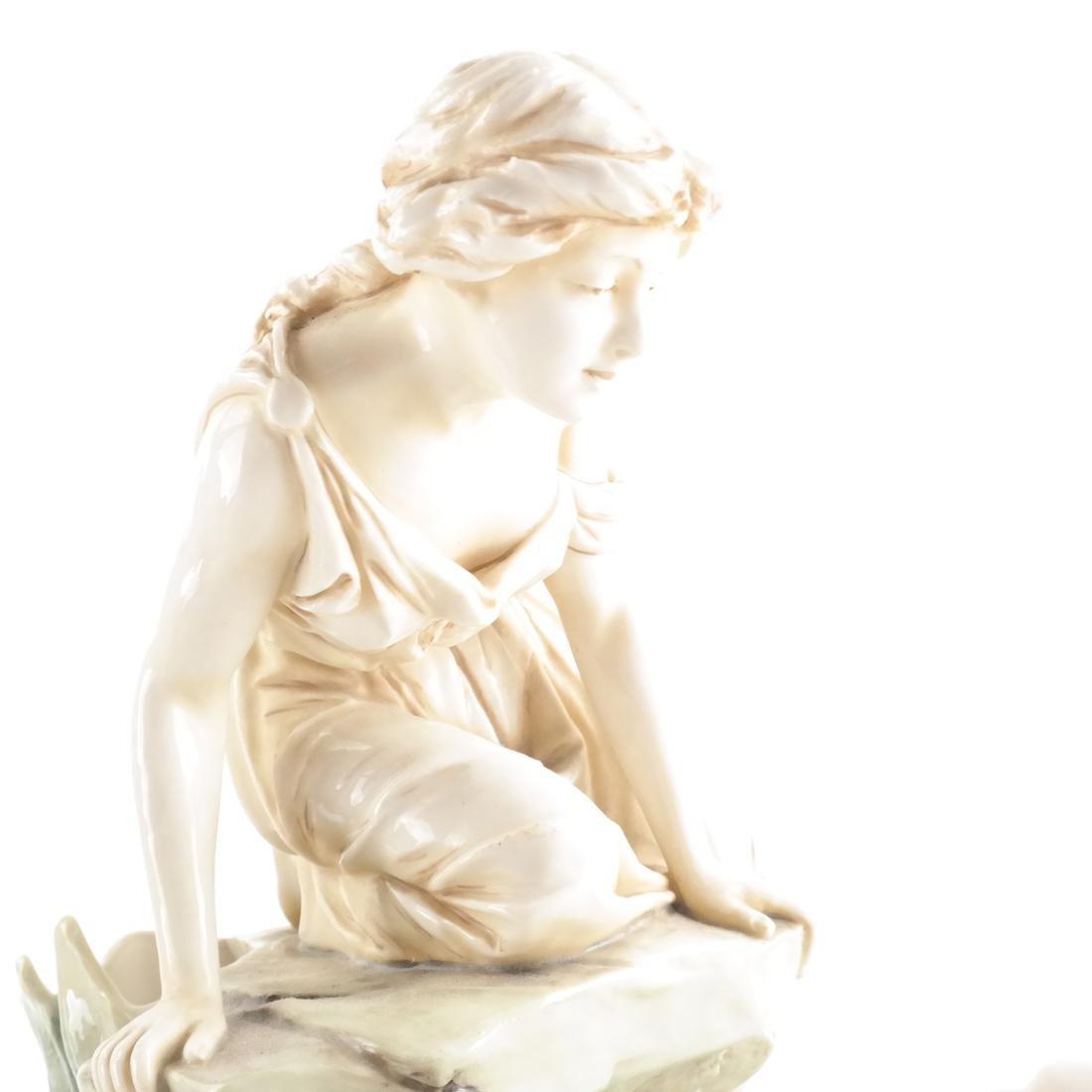 Two Royal Dux Ceramic Sculptures - 7