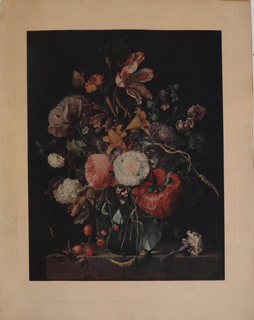 Two Prints: Still Life; Abstract - 2