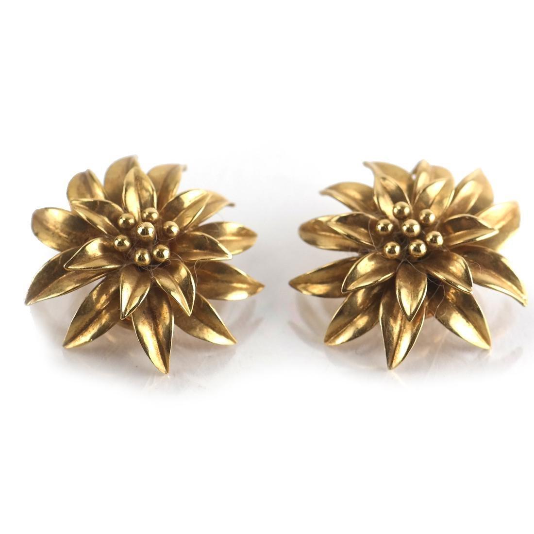 Tiffany & Co. 18k YG Ear Clips