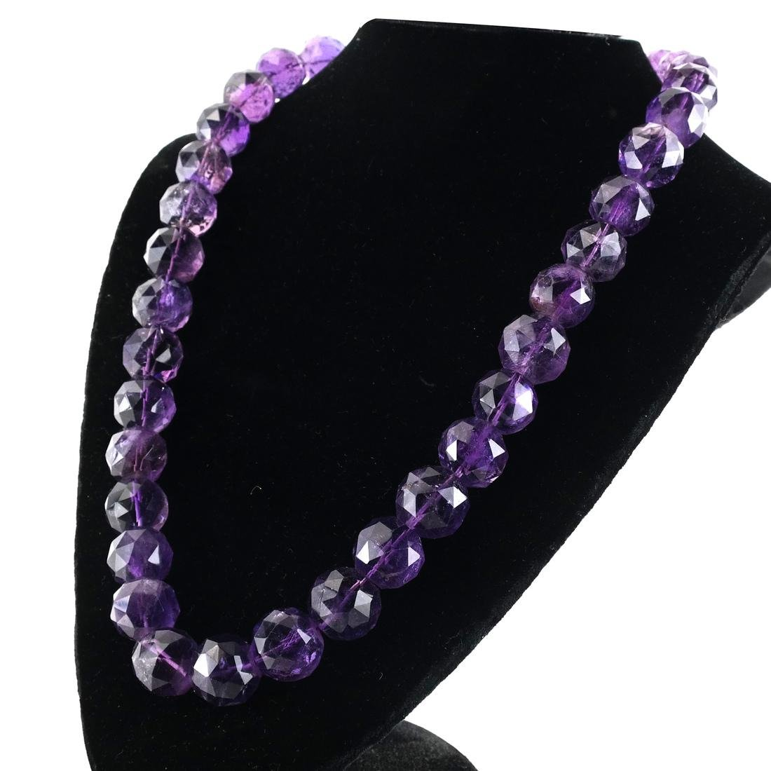 Early to Mid-20th C. Amethyst Bead Necklace - 4