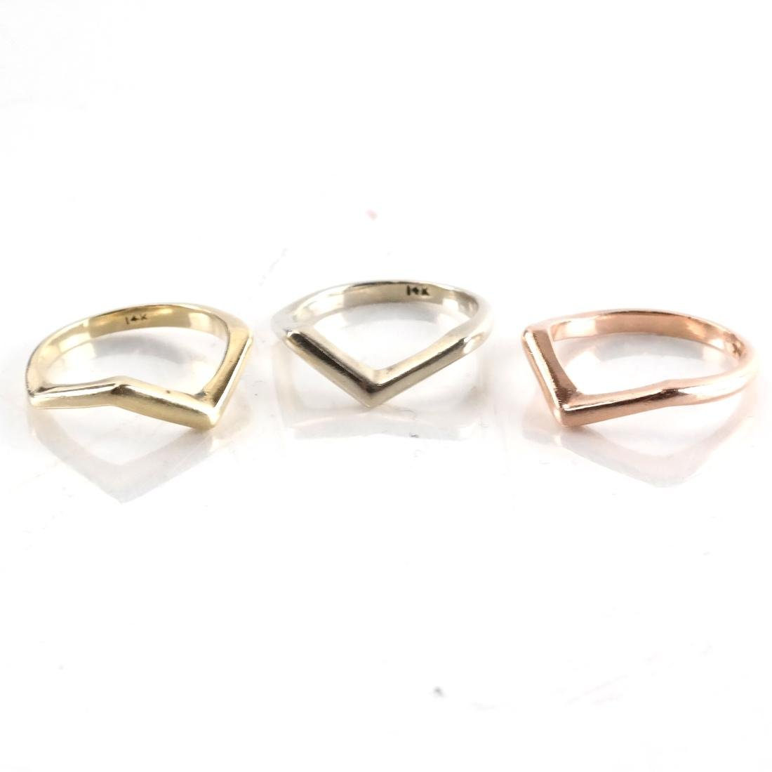 Three Tricolor Gold Rings