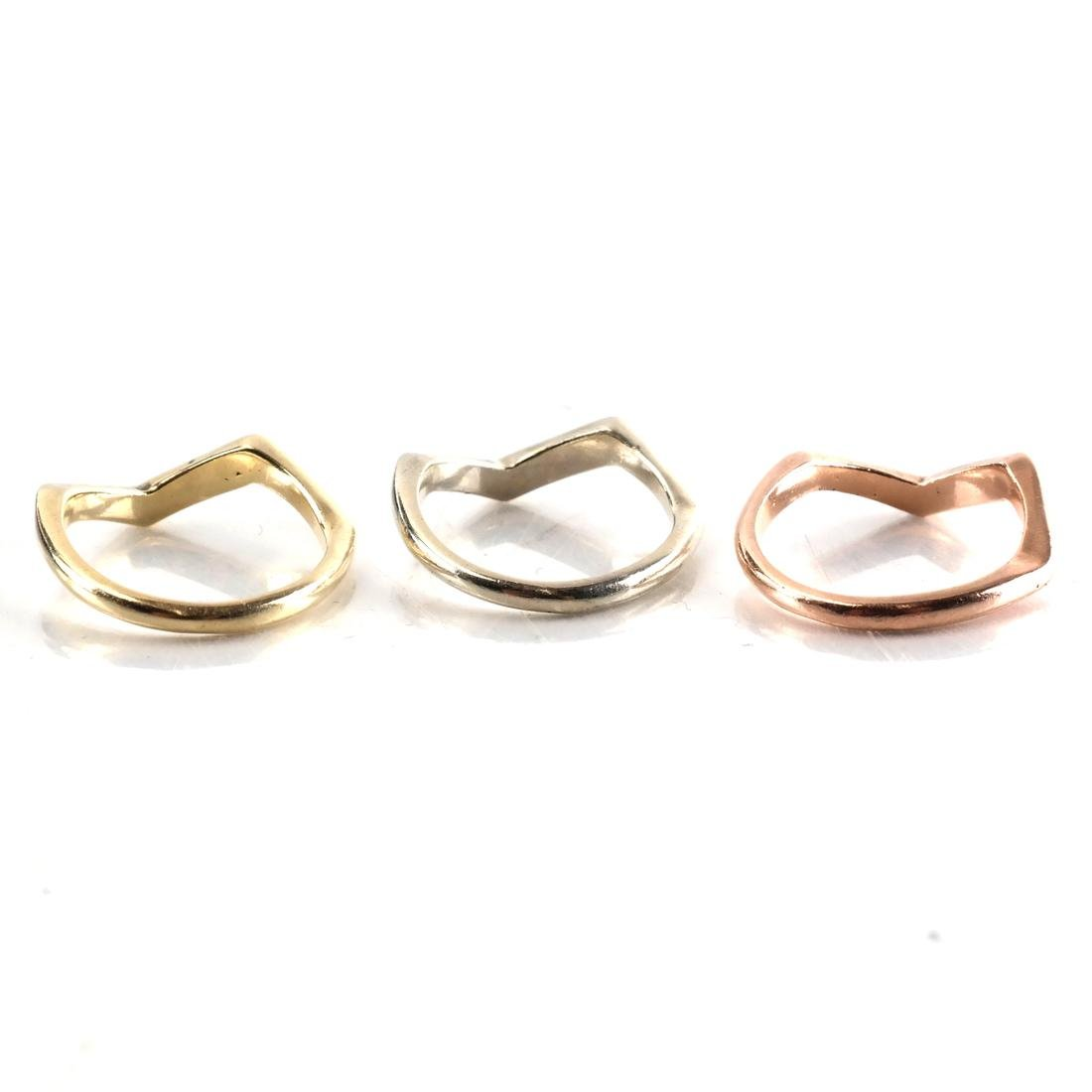 Three Tricolor Gold Rings - 2