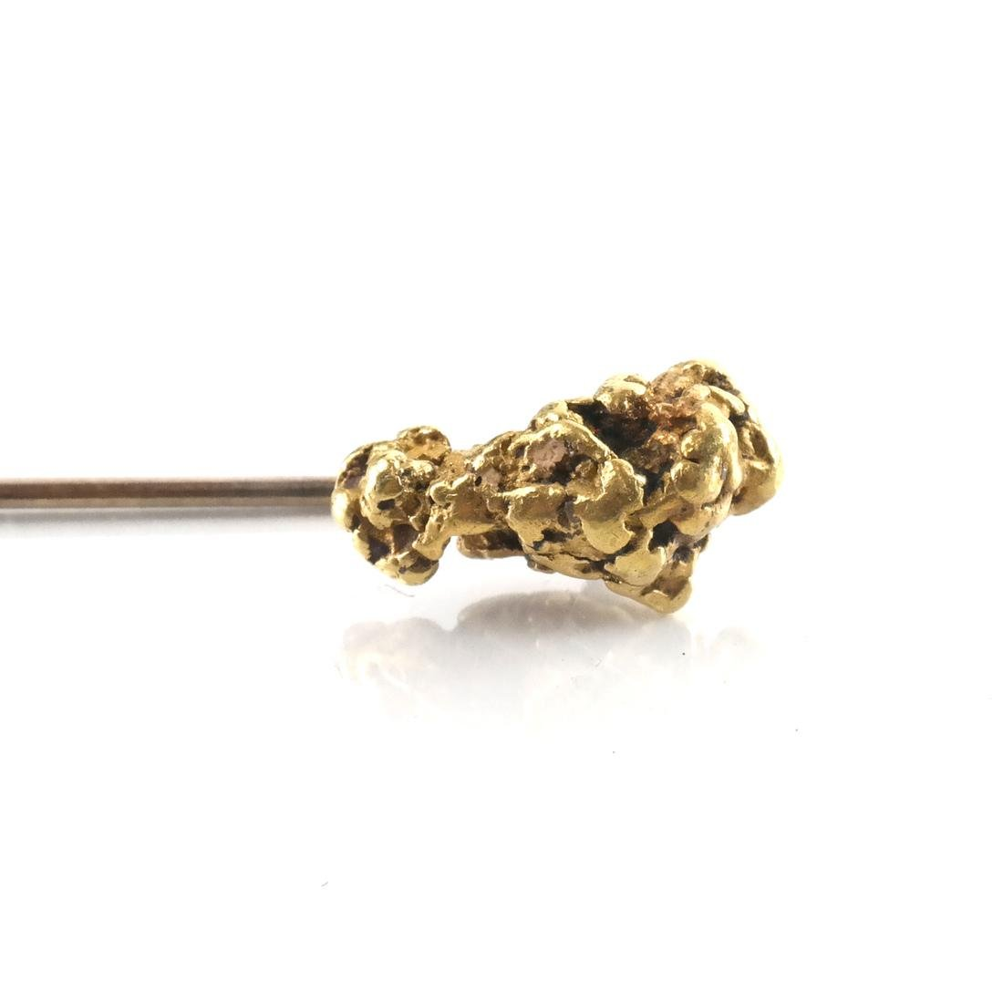 Natural High Carat Gold Nugget Stick Pin - 3