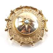 Victorian ByzantineStyle Gold Pin