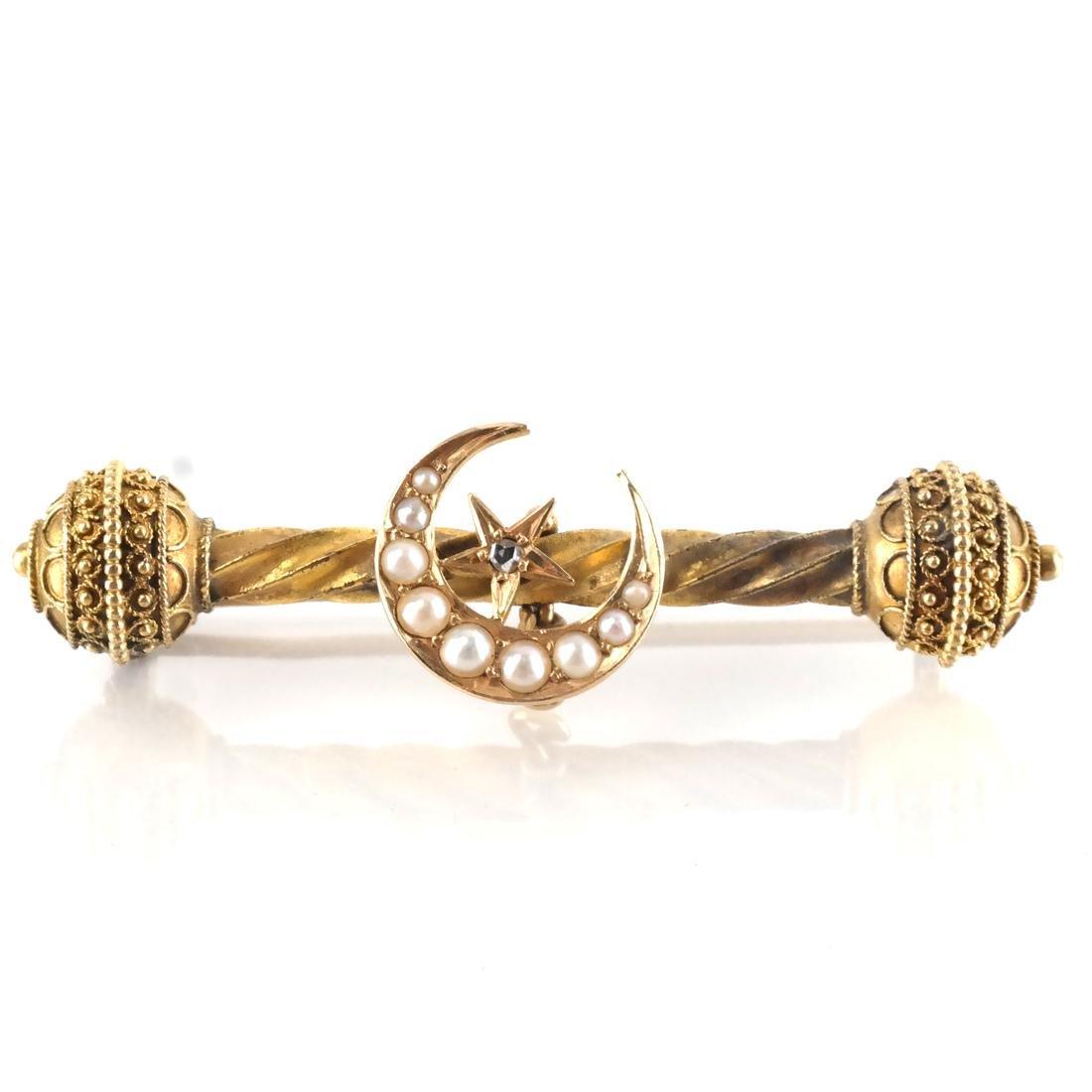 4 Assorted 14k YG Watch Pins, Bar Pins - 2
