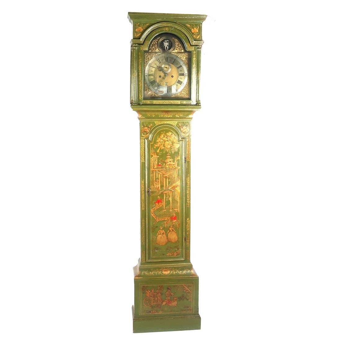 English Chinoiserie Grandfather Clock