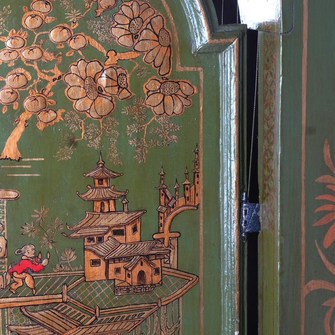 English Chinoiserie Grandfather Clock - 3