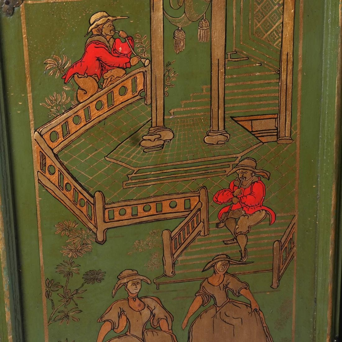 English Chinoiserie Grandfather Clock - 4