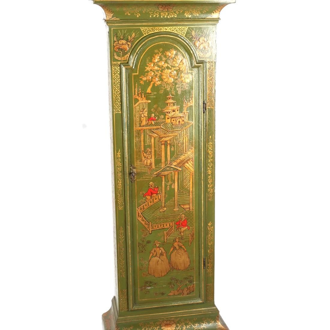 English Chinoiserie Grandfather Clock - 5