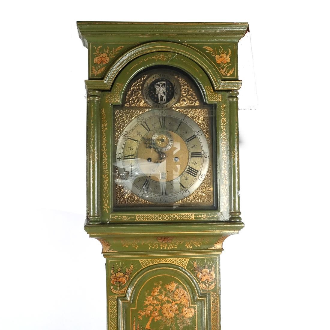English Chinoiserie Grandfather Clock - 6