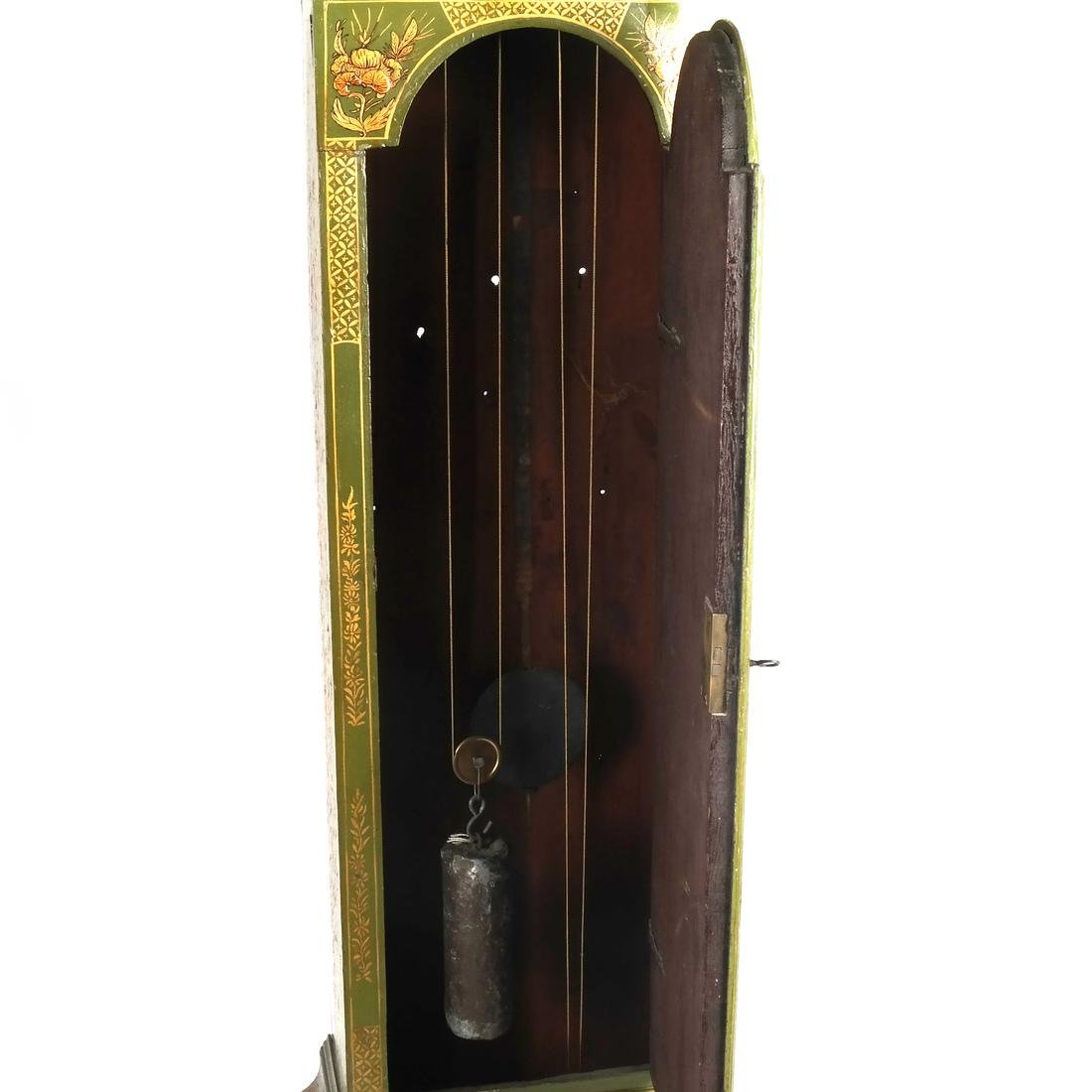 English Chinoiserie Grandfather Clock - 8