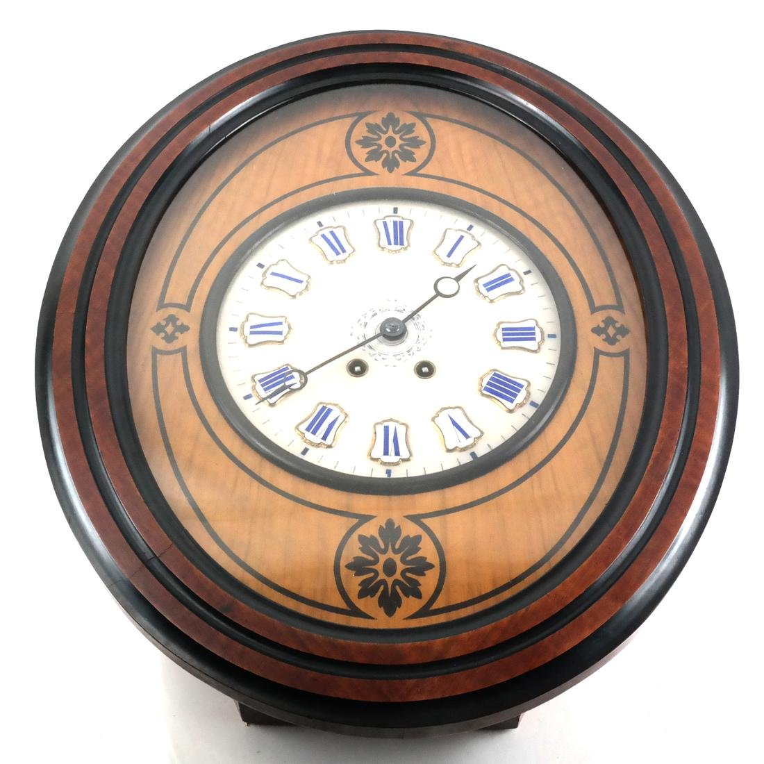 Biedermeier-Style Oval Regulator Clock
