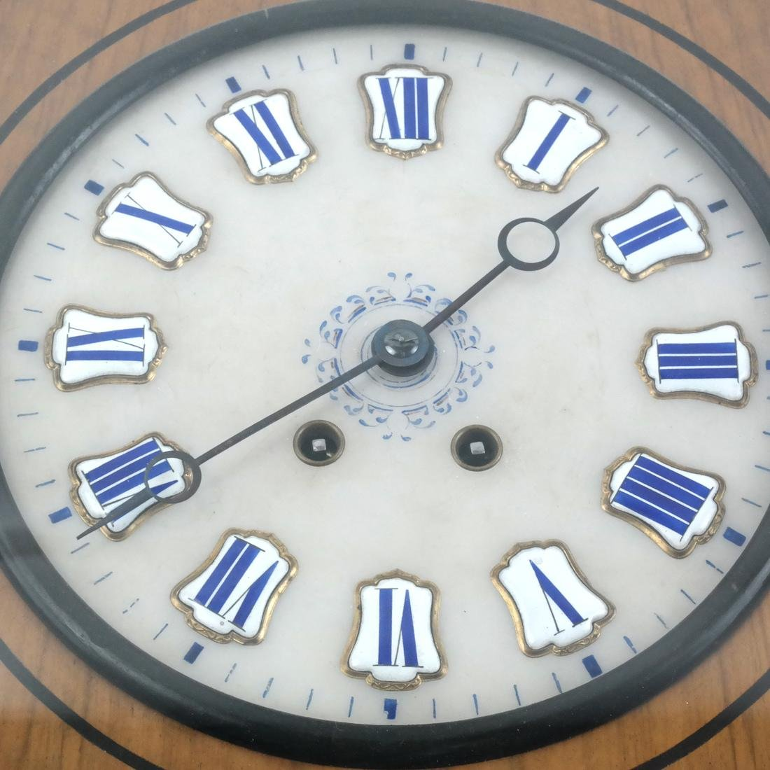 Biedermeier-Style Oval Regulator Clock - 2