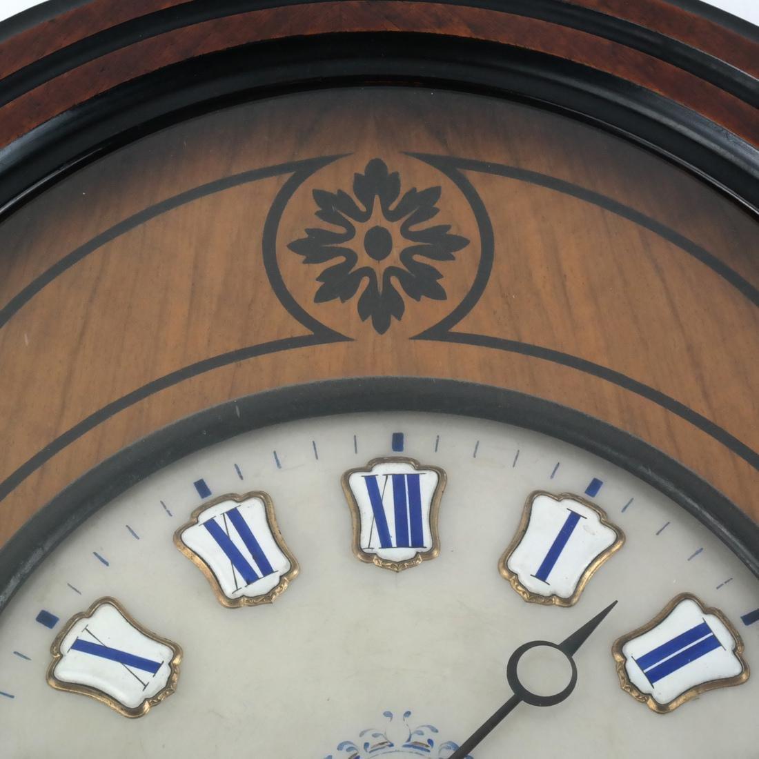 Biedermeier-Style Oval Regulator Clock - 3