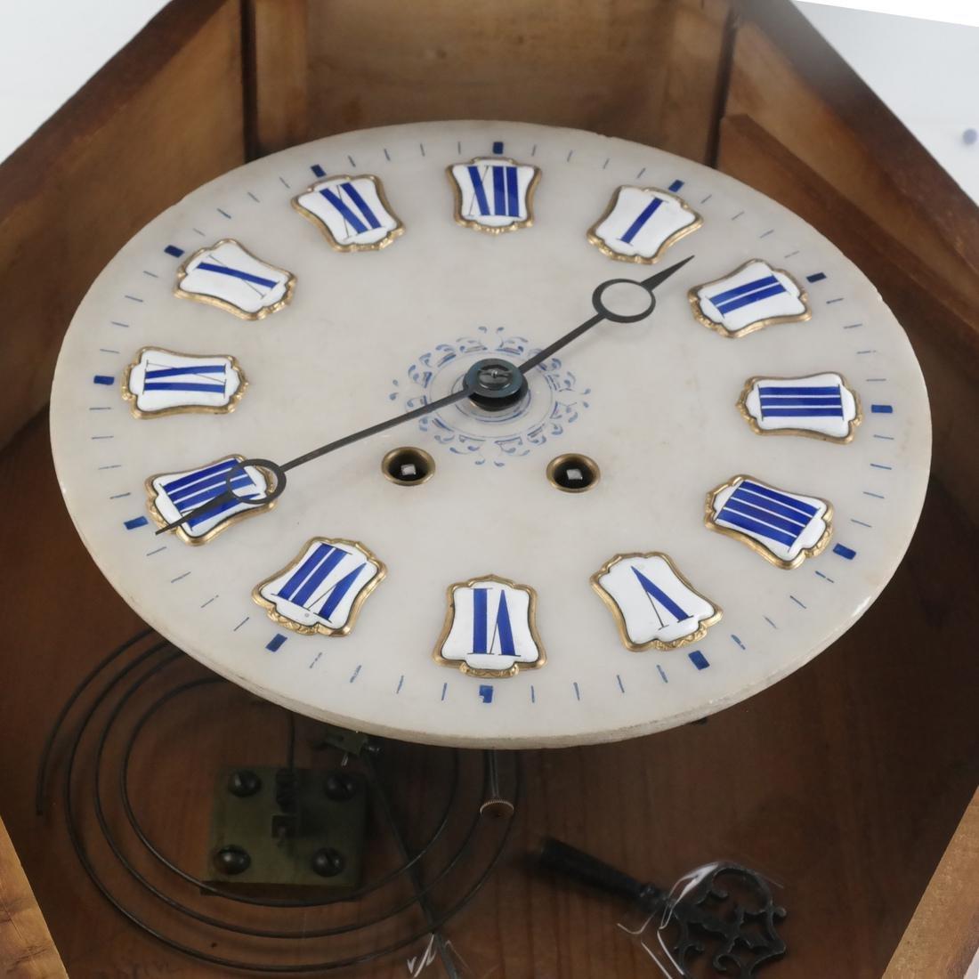 Biedermeier-Style Oval Regulator Clock - 4