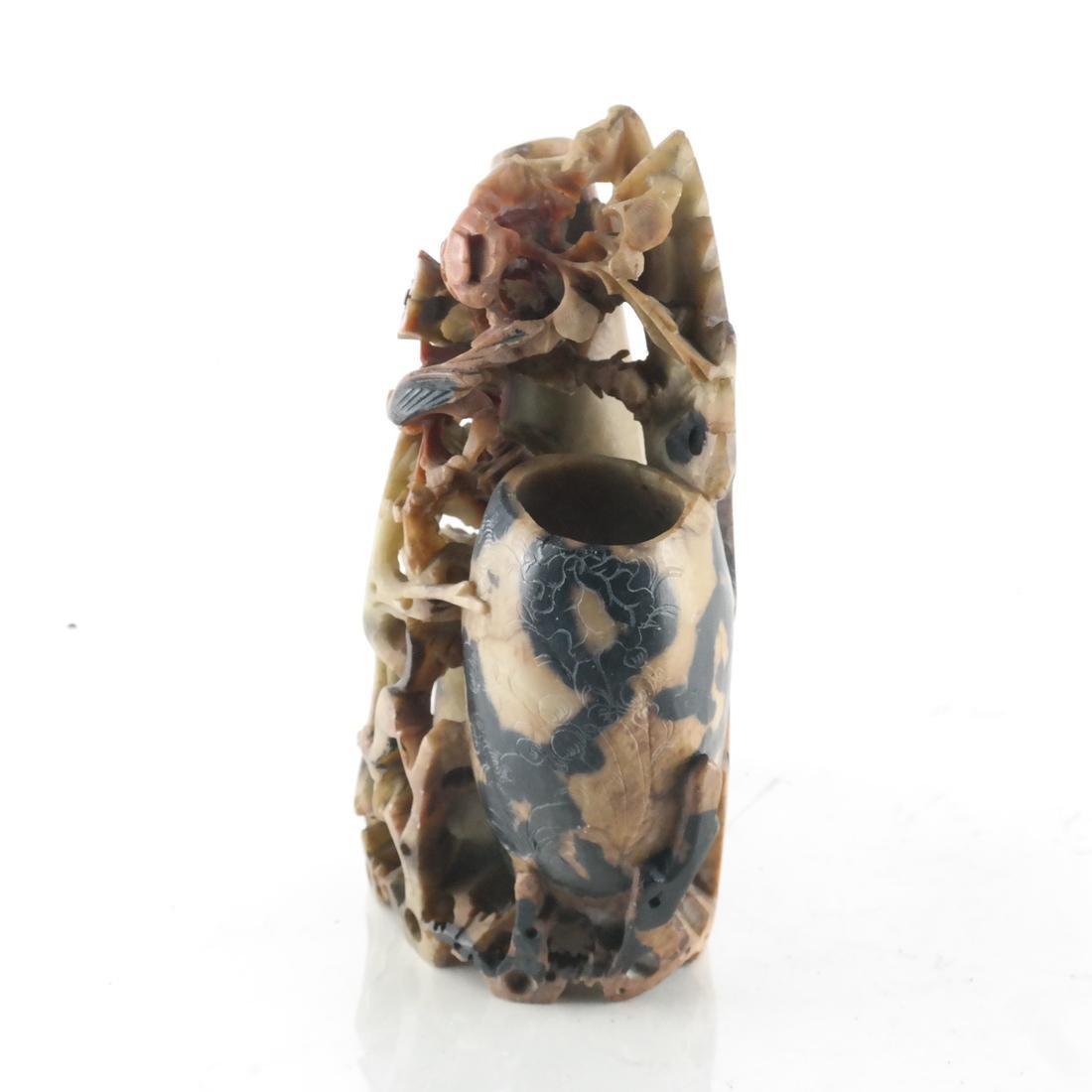 Chinese Ornate Hardstone Vase - 2