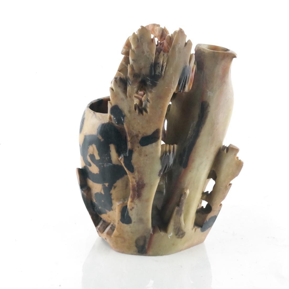 Chinese Ornate Hardstone Vase - 3
