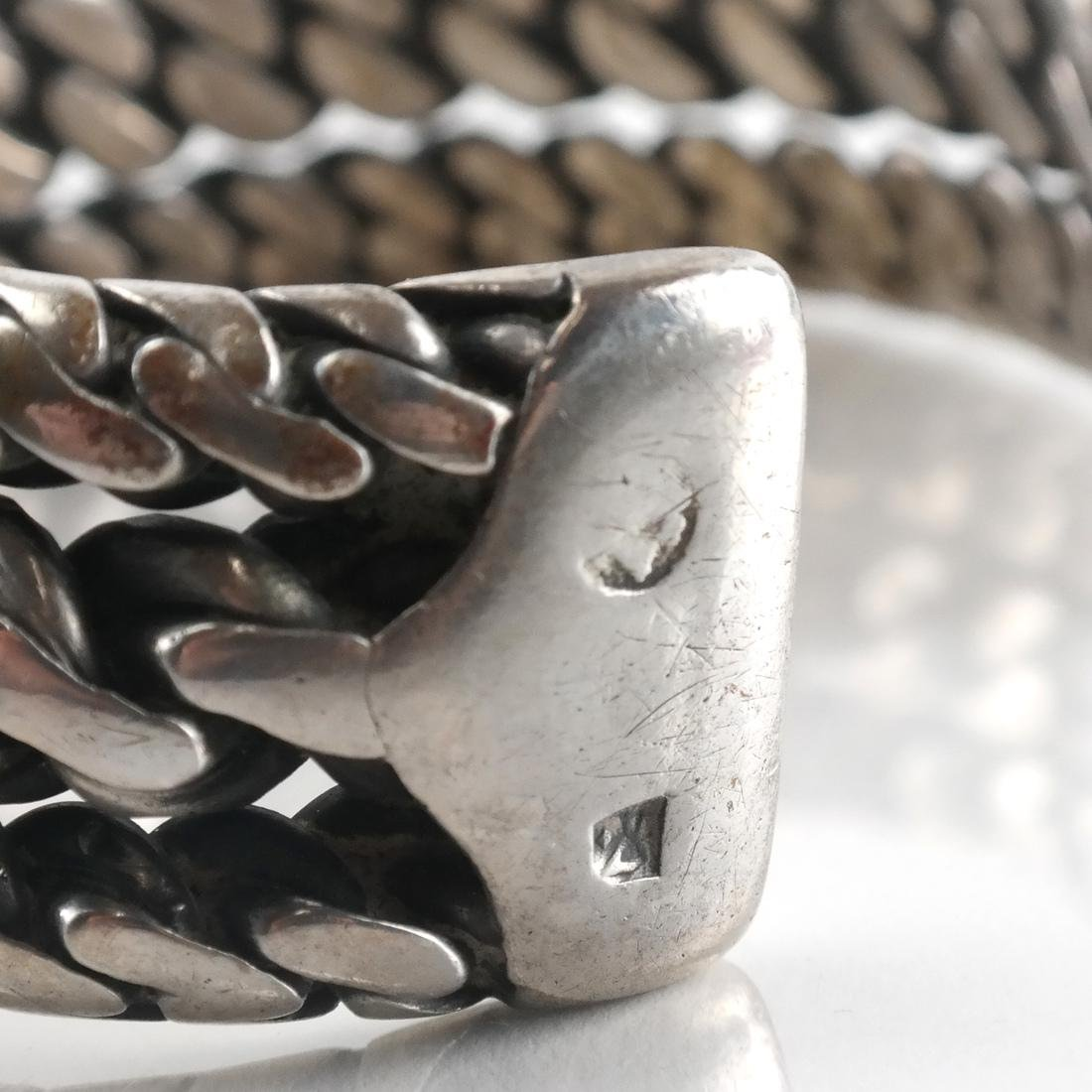 Early Central Asian Silver Bangle - 5