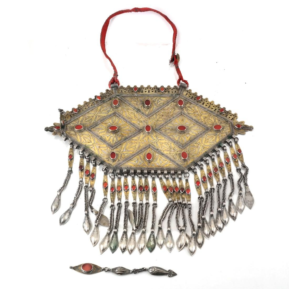 Afghan/Central Asian Antique Jeweled Breastplate