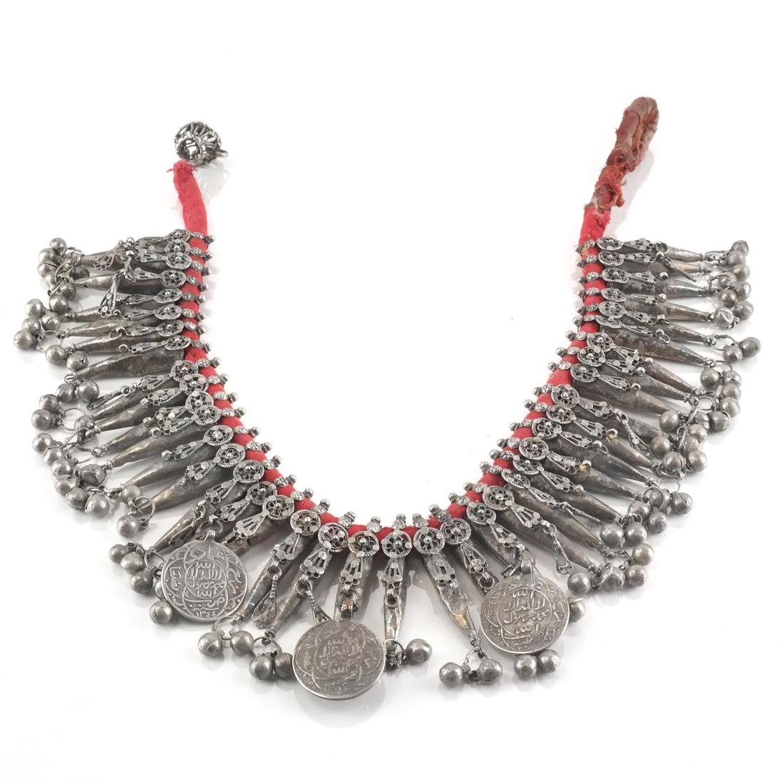 Silver Afghan/Central Asian Tassel & Coin Necklace