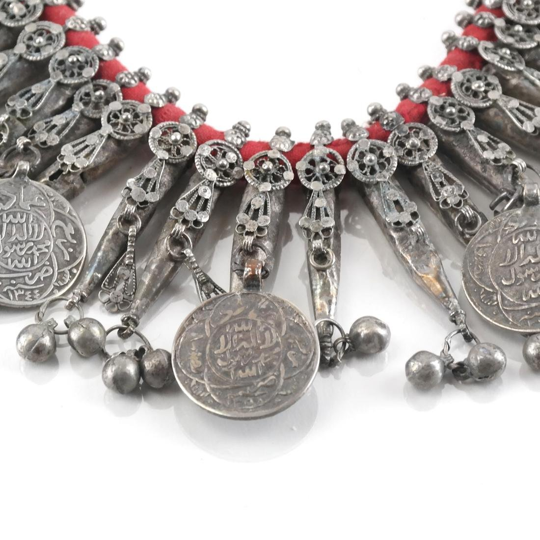 Silver Afghan/Central Asian Tassel & Coin Necklace - 3