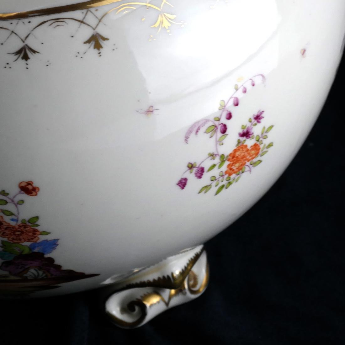 Herend-Style Asian Decorated Lamp - 2