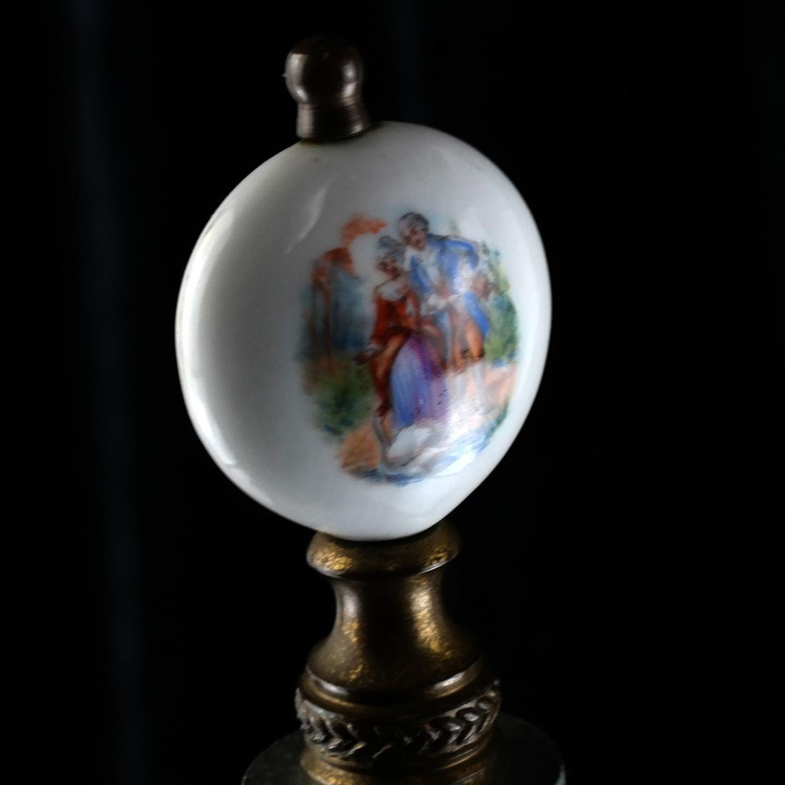 Herend-Style Asian Decorated Lamp - 5