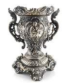 Bronze Raised Decorated Urn