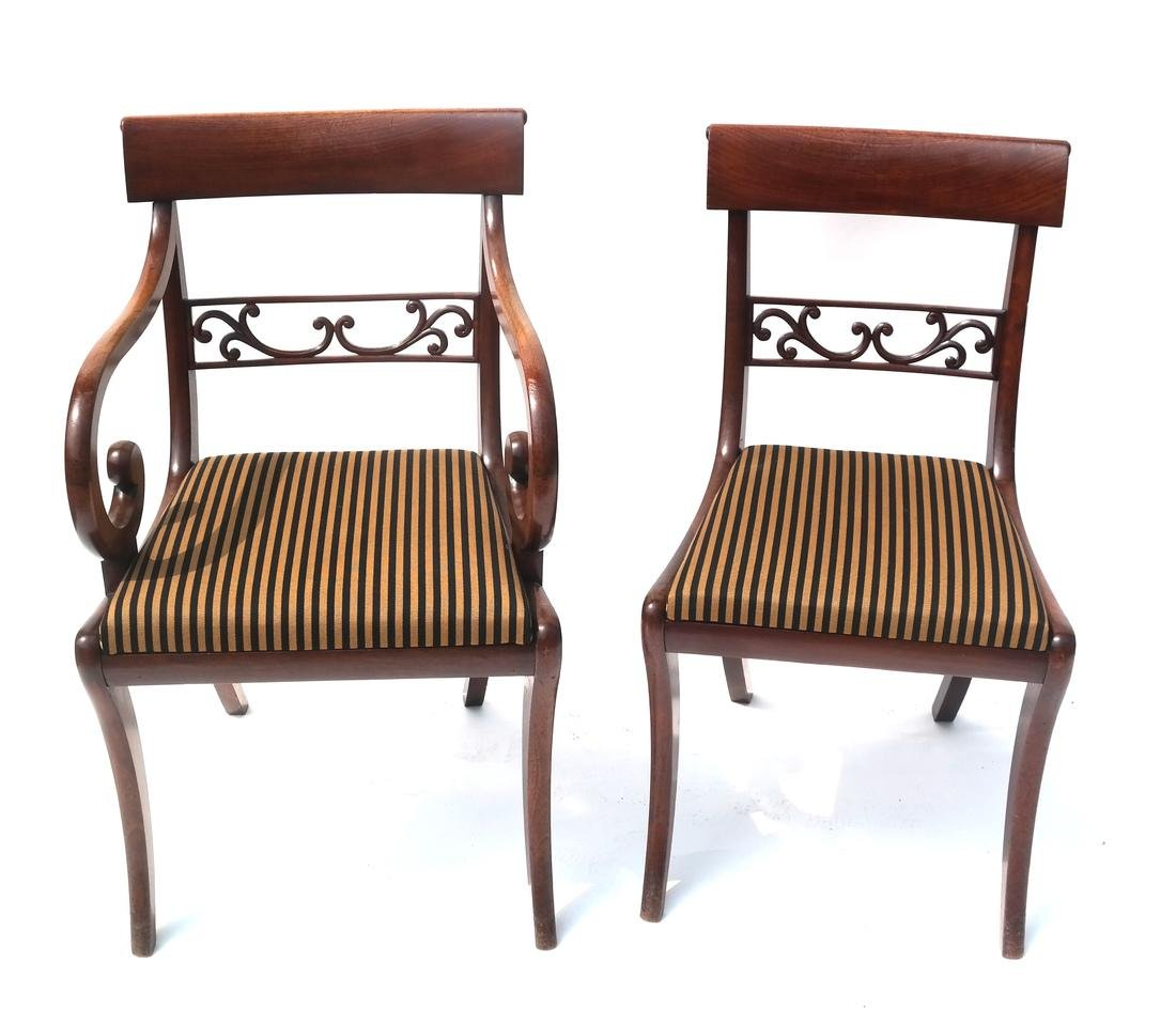 12 Regency-Style Dining Chairs - 2