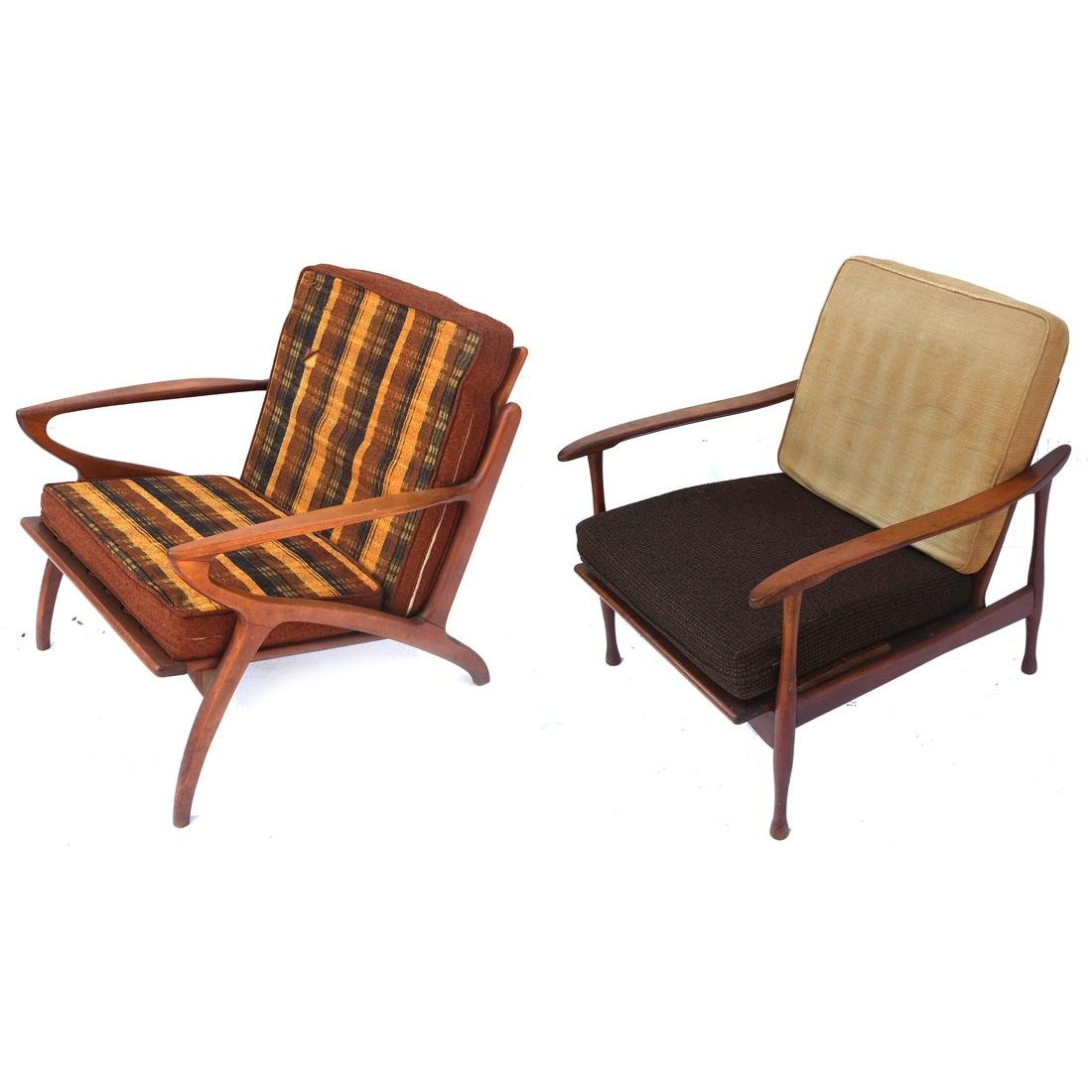 Two 20th Century Modern Armchairs