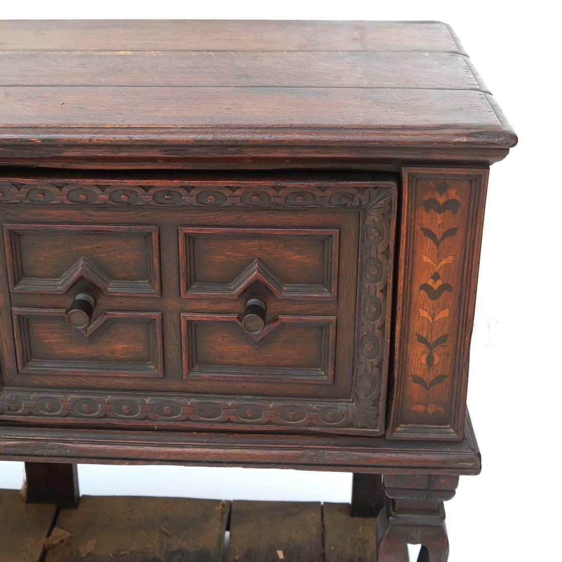 Jacobean-Style Inlaid Oak Sideboard - 5