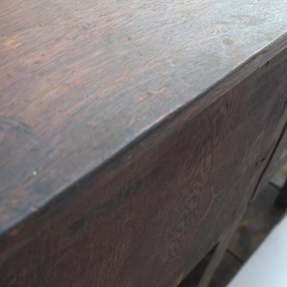 Jacobean-Style Inlaid Oak Sideboard - 8