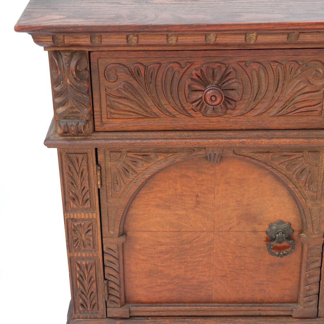 20th Century Oak Carved Sideboard. - 2