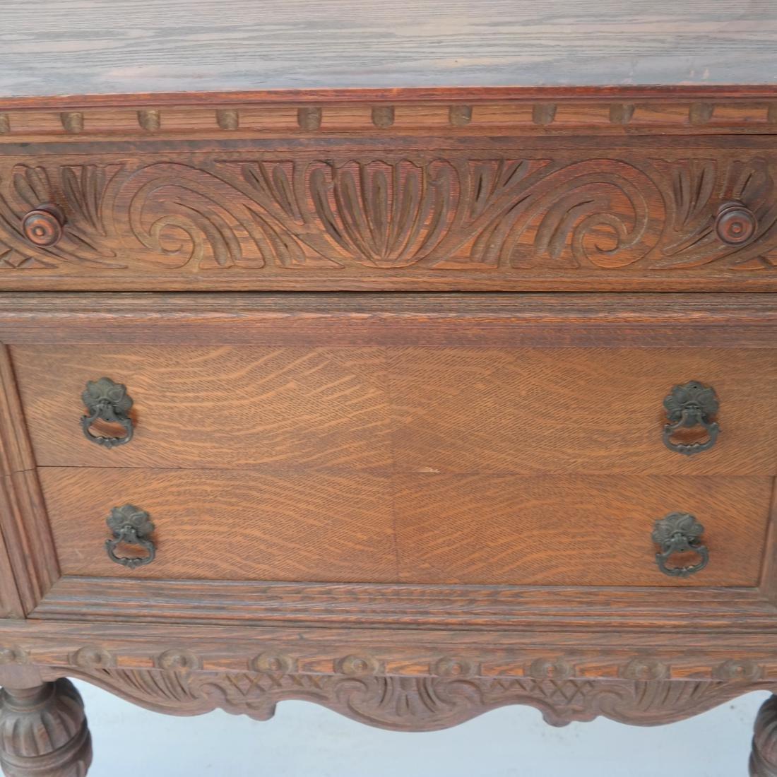 20th Century Oak Carved Sideboard. - 3