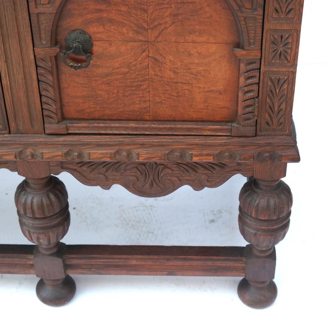 20th Century Oak Carved Sideboard. - 5