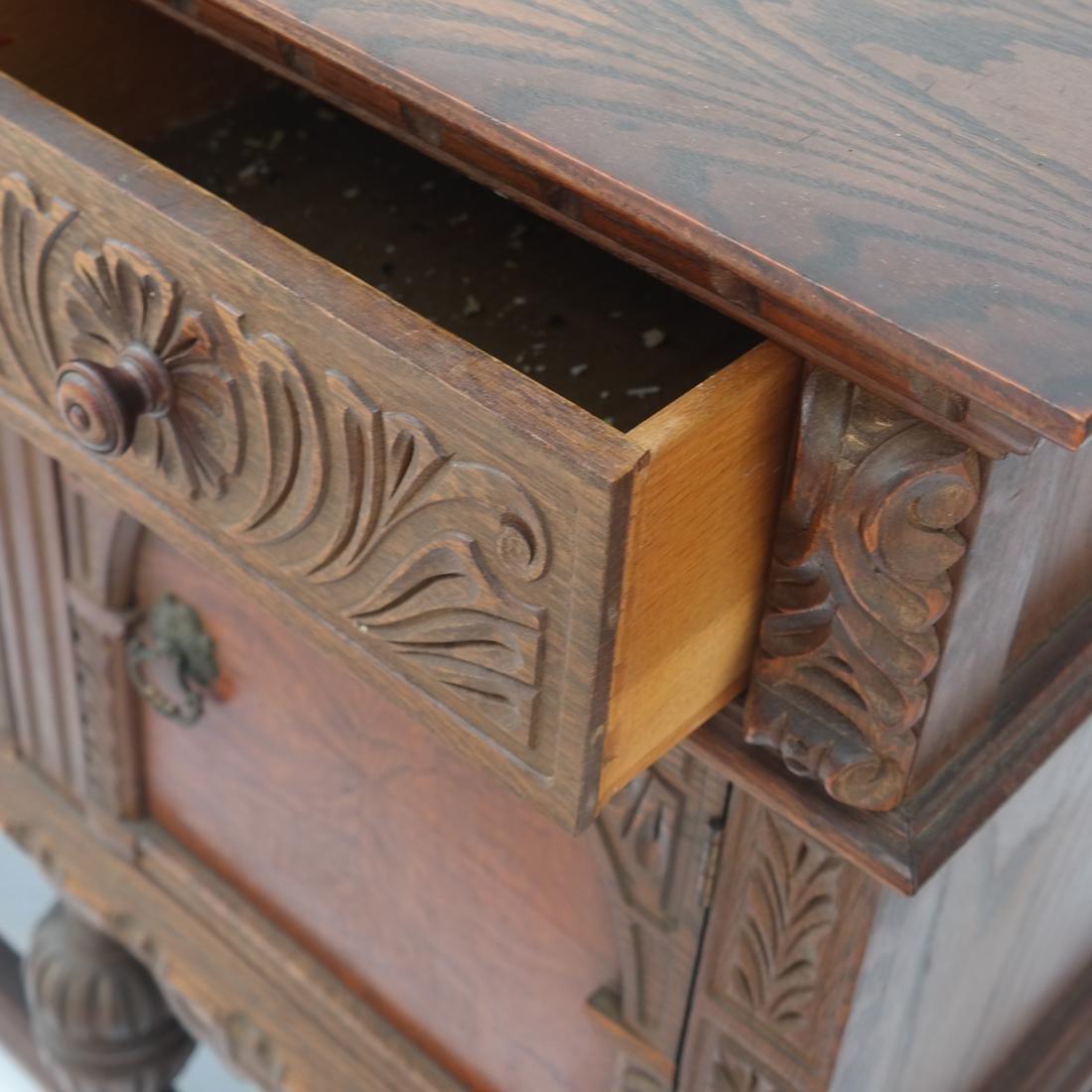 20th Century Oak Carved Sideboard. - 6