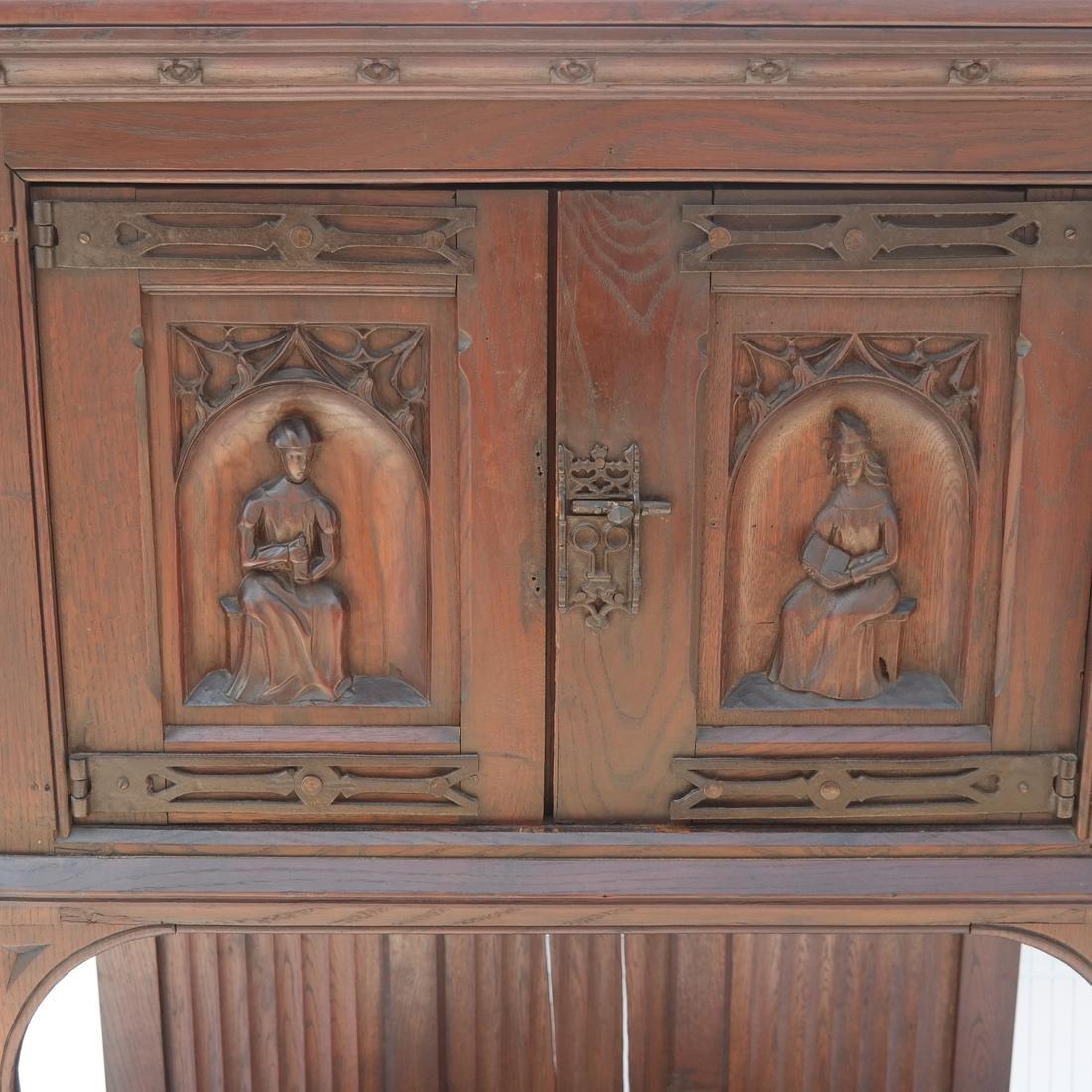 Tudor-Style Two-Door Cabinet - 2